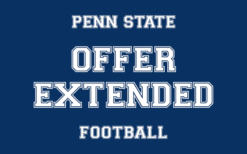 The Penn State Football team has extended an offer to a recruit