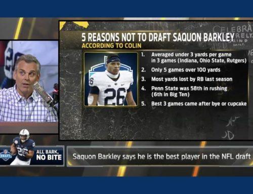 Saquon Barkley Overrated?  Debunking Colin Cowherd.